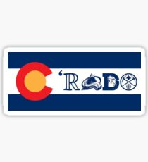 C'rado colorado flag design Sticker
