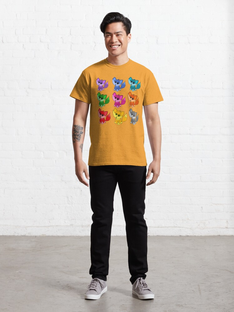 Alternate view of Cute Cool Foxes Babies Rainbow Multi Classic T-Shirt