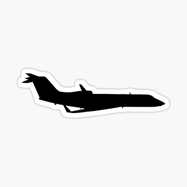 Gulfstream IV-X business jet silhouette Sticker
