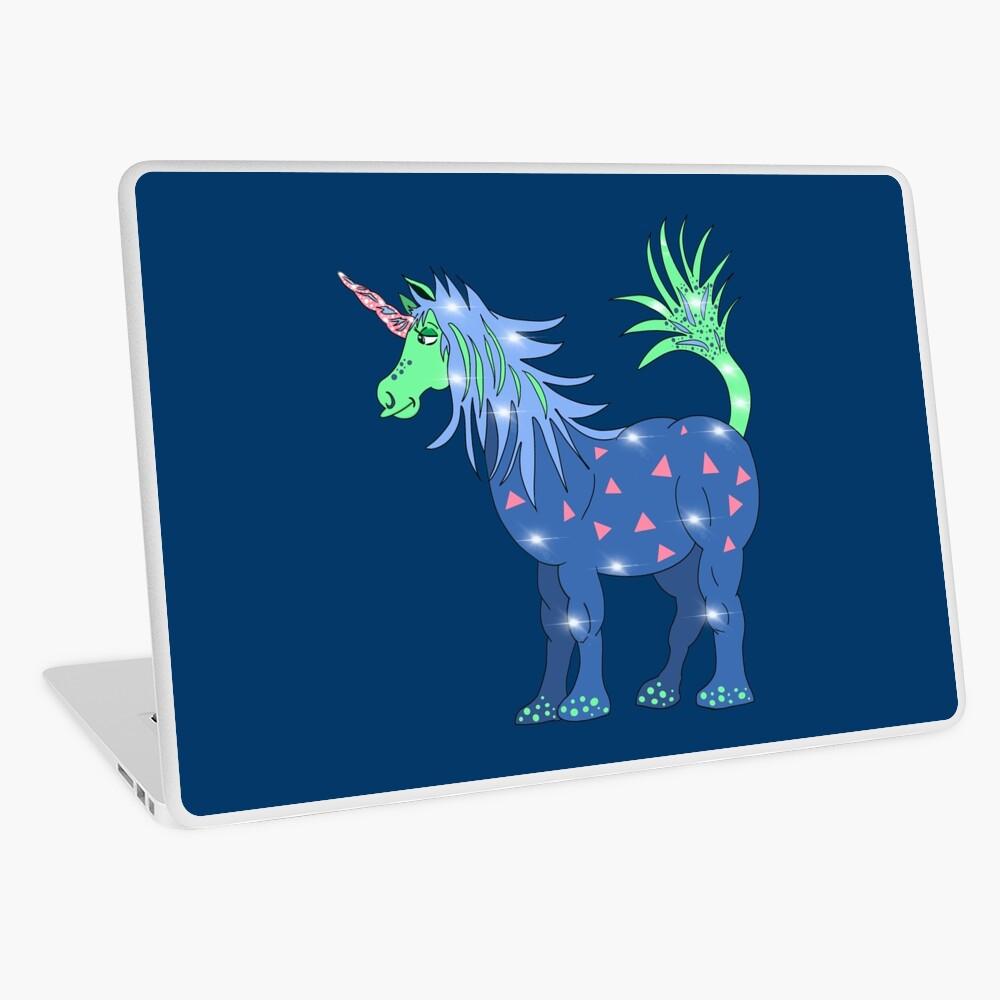 Mystical Magical Unicorn Blue Laptop Skin