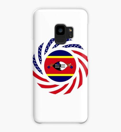 Swazi American Multinational Patriot Flag Series Case/Skin for Samsung Galaxy