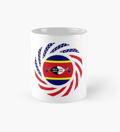 Swazi American Multinational Patriot Flag Series Mug