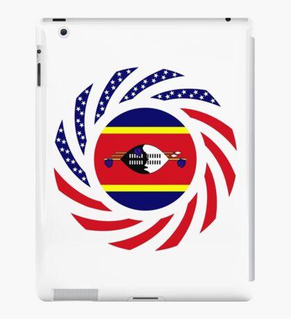 Swazi American Multinational Patriot Flag Series iPad Case/Skin