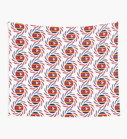 Swazi American Multinational Patriot Flag Series Wall Tapestry