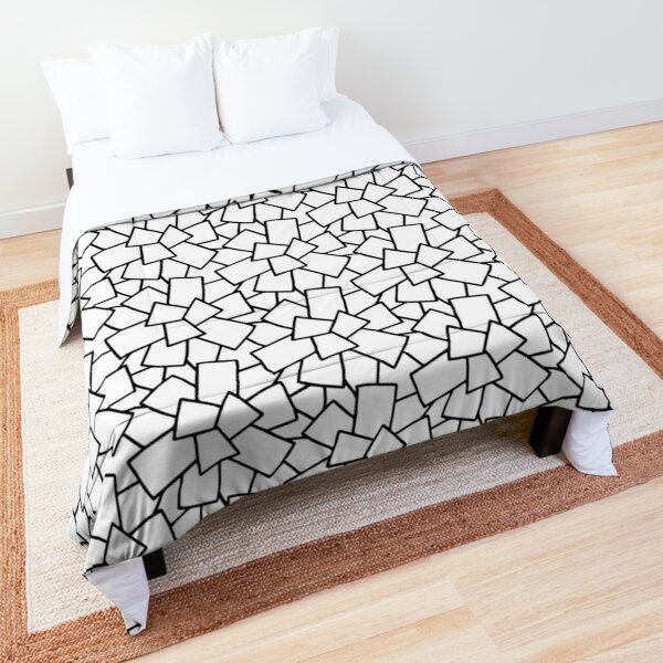 Tiles Abstract Black and White Comforter