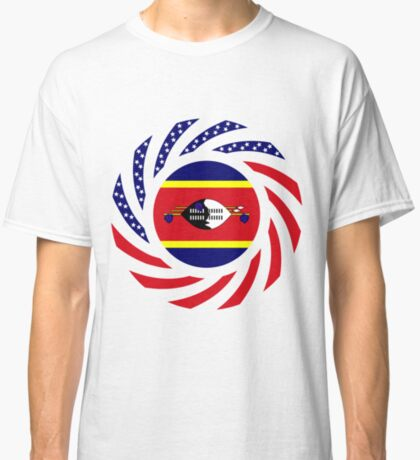 Swazi American Multinational Patriot Flag Series Classic T-Shirt