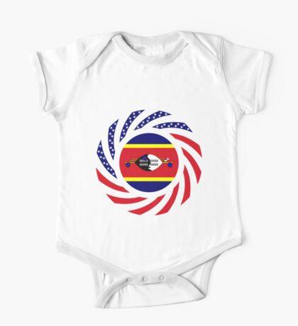 Swazi American Multinational Patriot Flag Series Kids Clothes