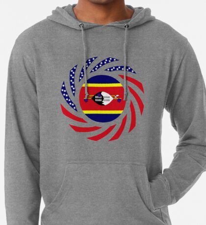 Swazi American Multinational Patriot Flag Series Lightweight Hoodie