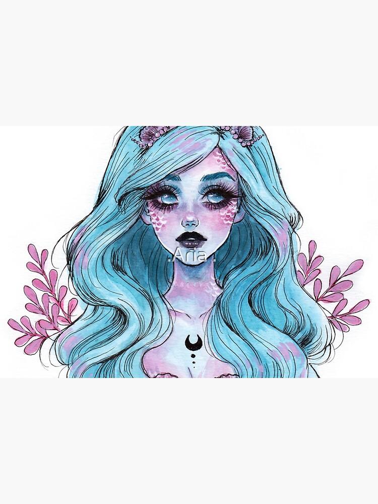 Pearlescent mermaid by ARiAillustr