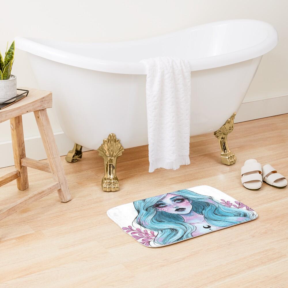 Pearlescent mermaid Bath Mat