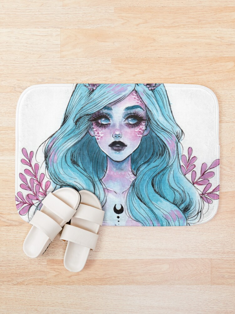 Alternate view of Pearlescent mermaid Bath Mat