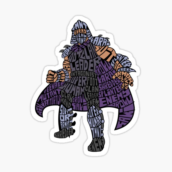 Foot Clan Leader Calligram Sticker