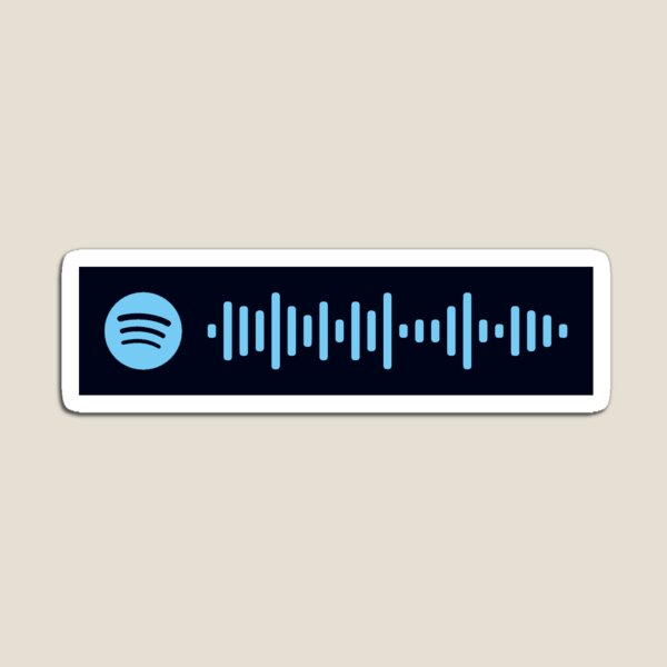 Blue Bird Spotify Code Magnet
