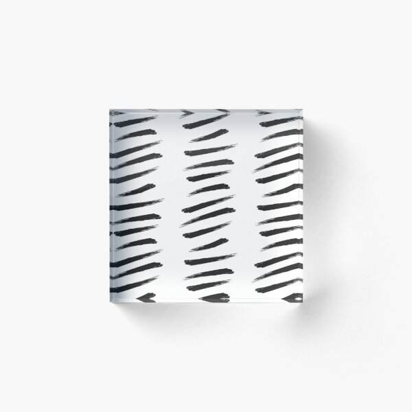 Zebra Stripe Paint Strokes Acrylic Block