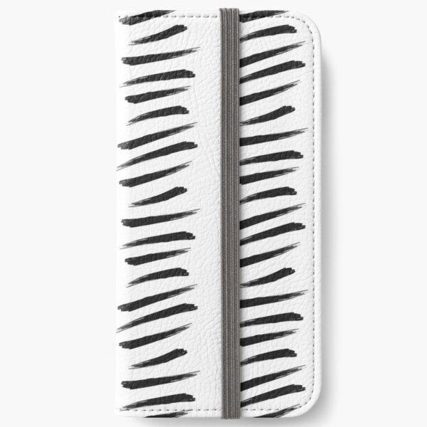 Zebra Stripe Paint Strokes iPhone Wallet
