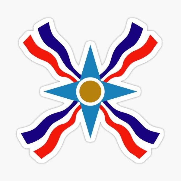 Minimalist Assyrian Flag - Ata d'Ator Sticker