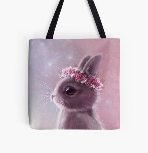 Fairy bunny All Over Print Tote Bag