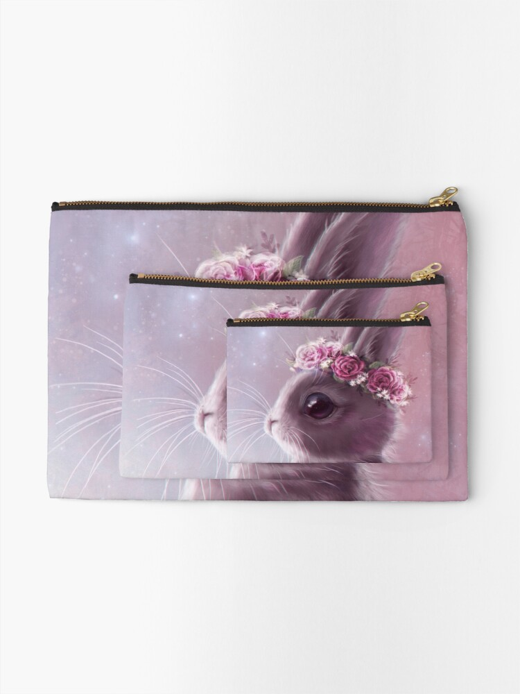 Alternate view of Fairy bunny Zipper Pouch
