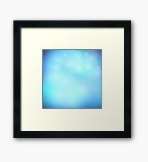 Abstract background blue colour  Framed Print