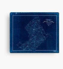 Civil War Maps 0337 Culpeper and Orange Counties Virginia Inverted Canvas Print