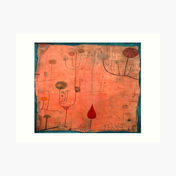 """Paul Klee """"Fruits on Red"""" 