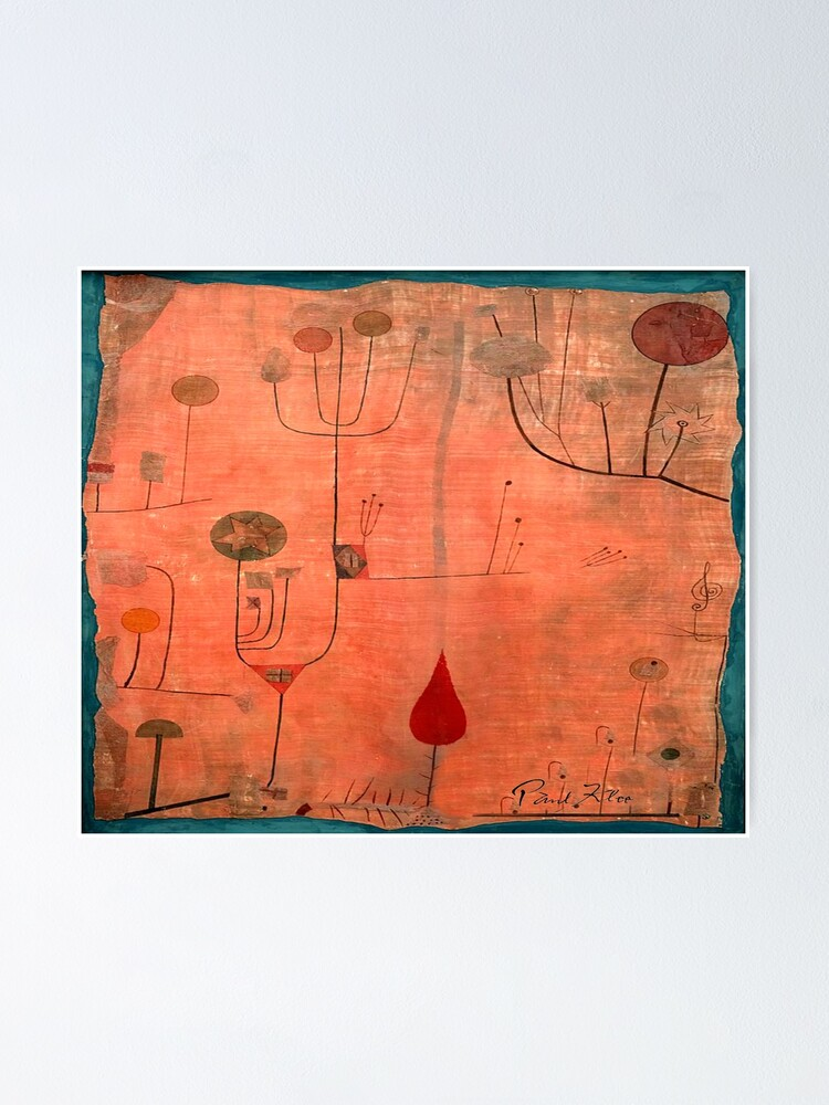 """Alternate view of Paul Klee """"Fruits on Red"""" 