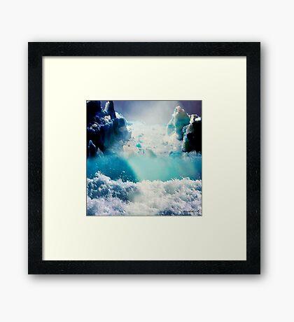 Secret place in blue Framed Print