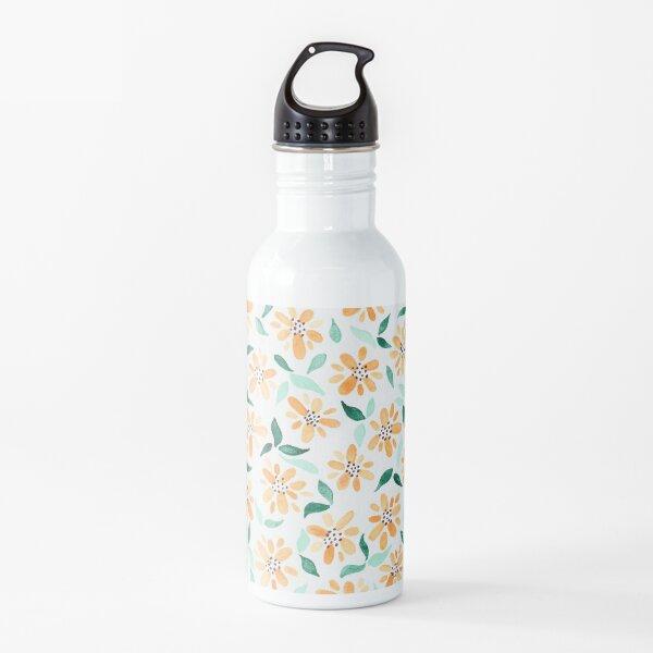 Watercolor Yellow Flower Water Bottle