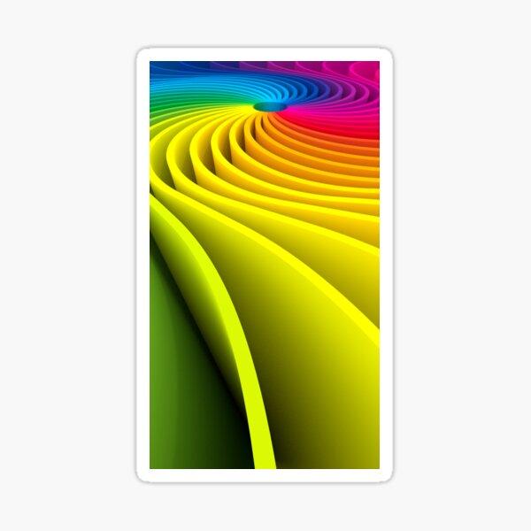 Rainbow Spiral 3D Sticker