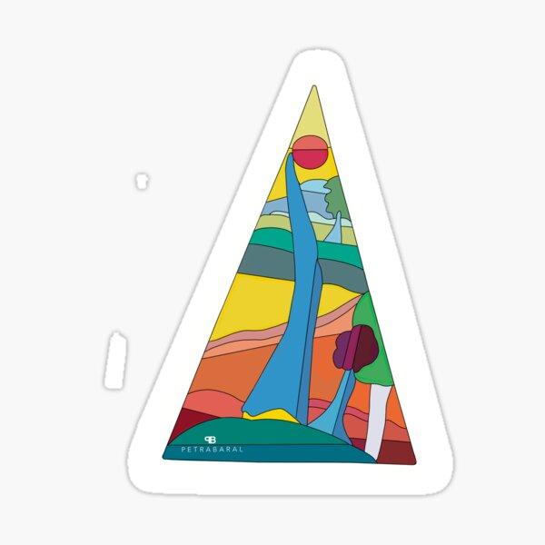 Abstract Tree Scenery  Sticker