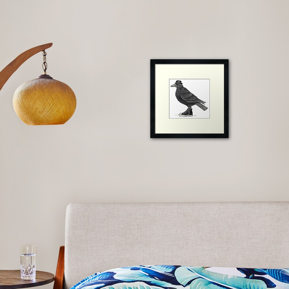 Cody Blackbird in high tops Framed Art Print
