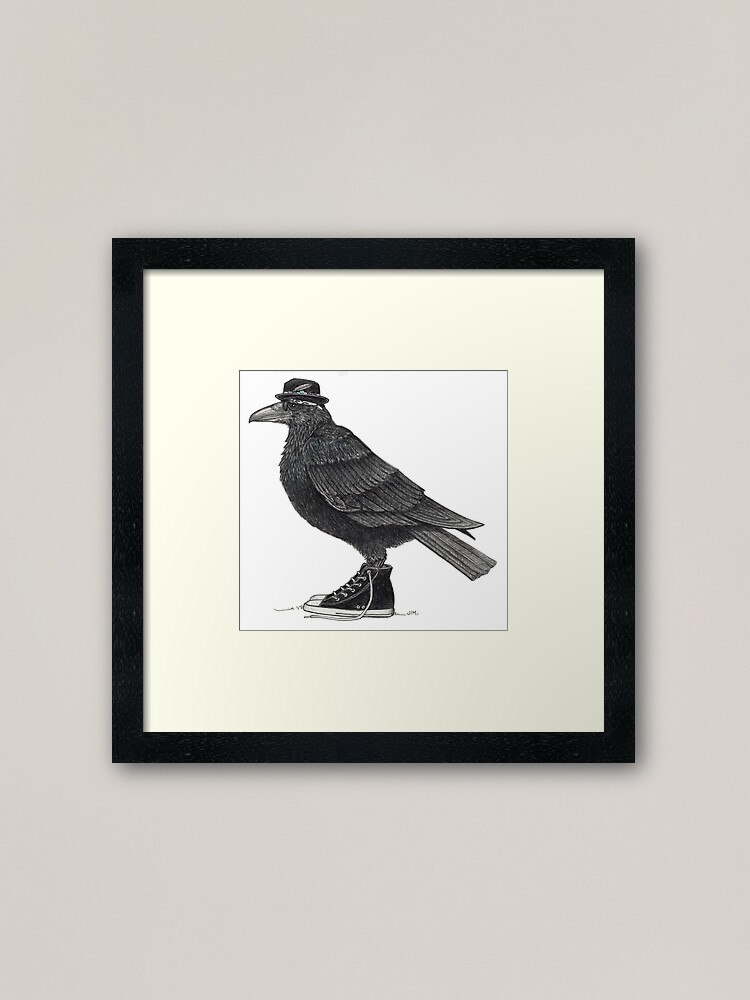 Alternate view of Cody Blackbird in high tops Framed Art Print
