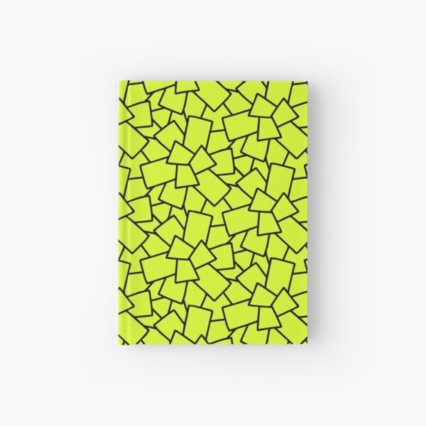 Tiles Abstract Neon Green Hardcover Journal