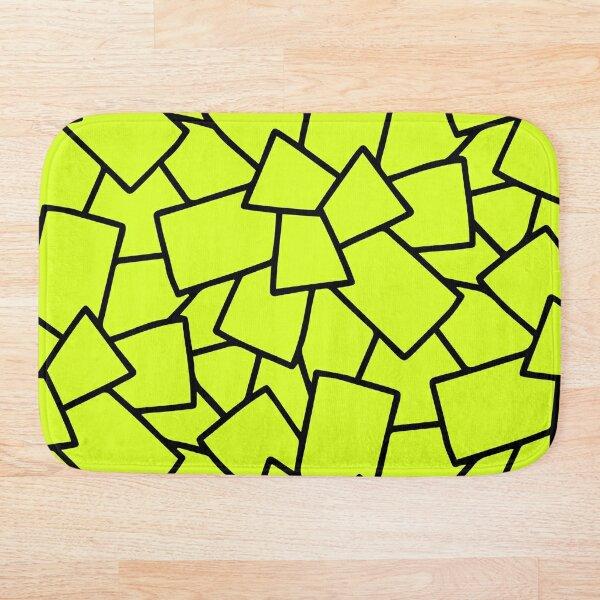 Tiles Abstract Neon Green Bath Mat