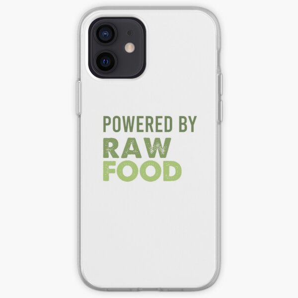 Powered By Raw Food iPhone Soft Case