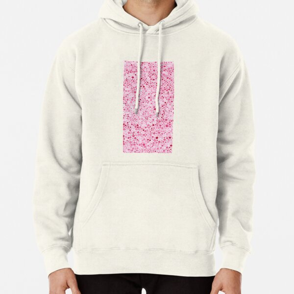 Pink Watercolor Dots Pullover Hoodie