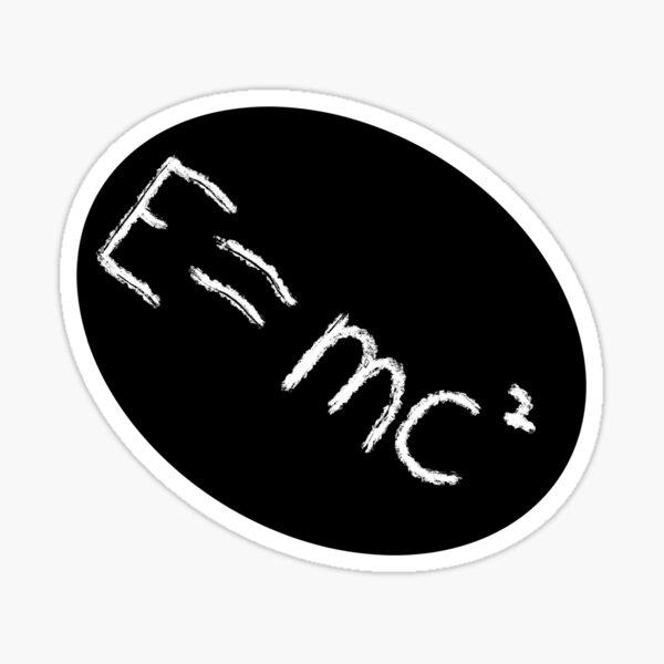 E=mc squared Sticker