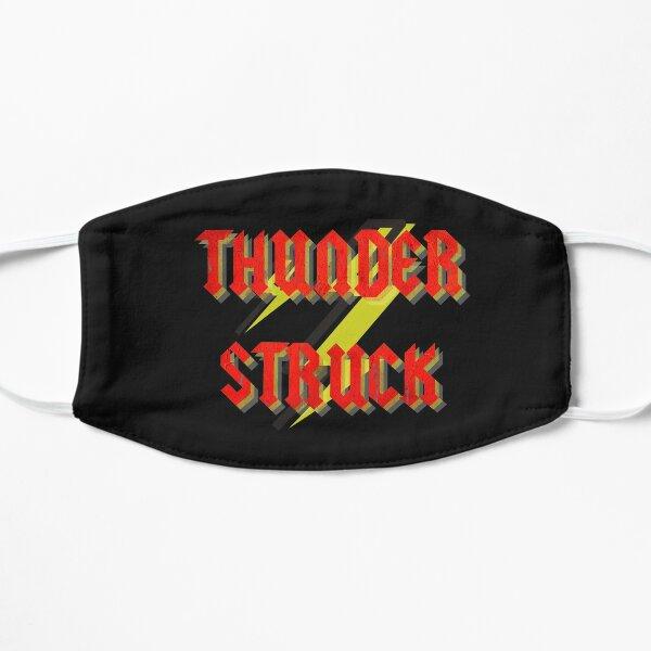Thunderstruck, ac dc, tipografía Mascarilla plana