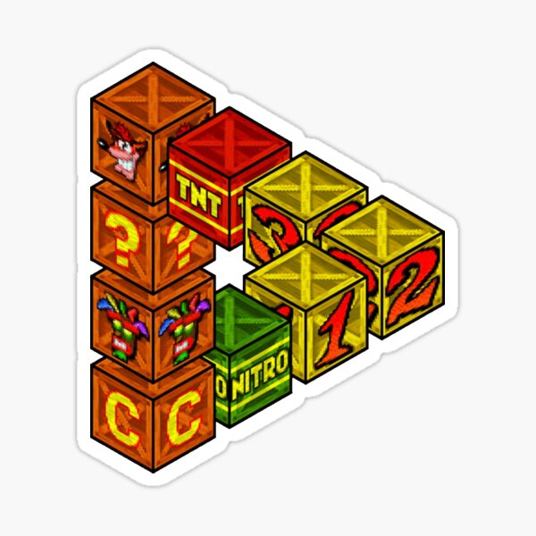 Mysterious crates Sticker