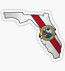 Florida flag shape outline Sticker
