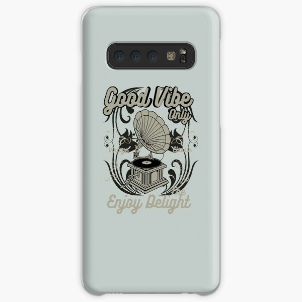Good Vibe Only - Awesome gramophone lover Gift Samsung Galaxy Snap Case