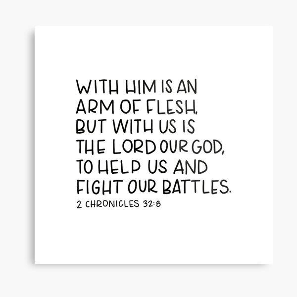 Fight Battles Scripture Metal Print