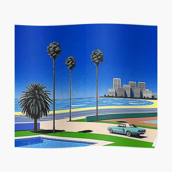 Hiroshi Nagai Vaporwave Poster