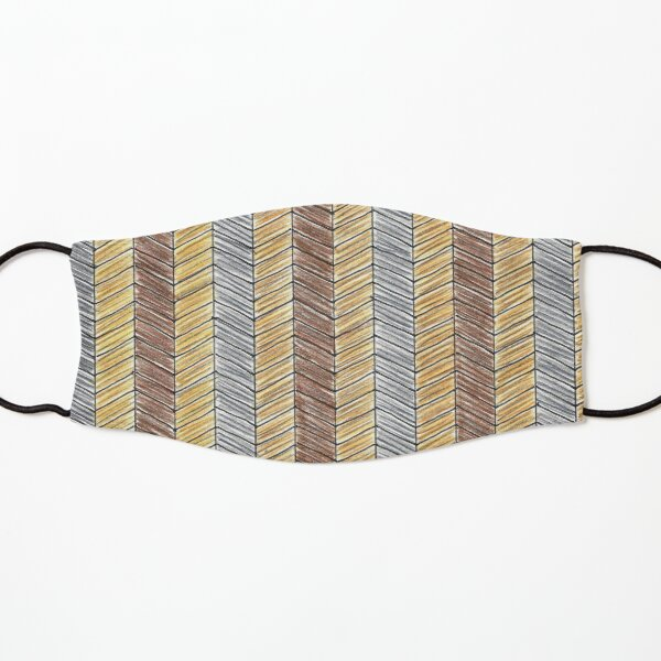 NEUTRAL HERRINGBONE WEAVE Kids Mask