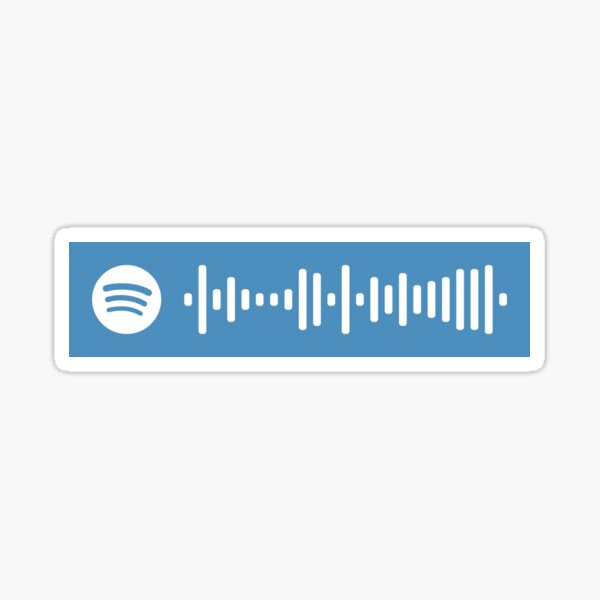 LA DI DA - EVERGLOW   Código de escaneo de Spotify Pegatina