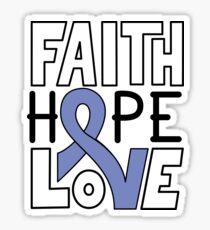 Faith Hope Love - Esophageal Cancer Awareness Sticker