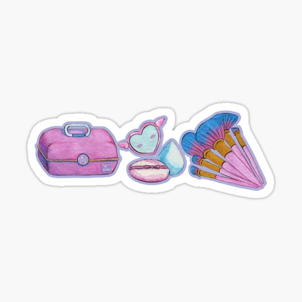 Makeup Accessories for the 90's Girl - Blue Sticker