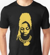 Nina Simone Yellow Unisex T-Shirt