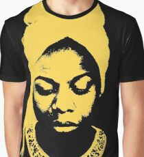 Nina Simone Yellow Graphic T-Shirt