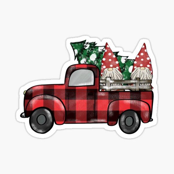 buffalo plaid christmas gnomies Sticker